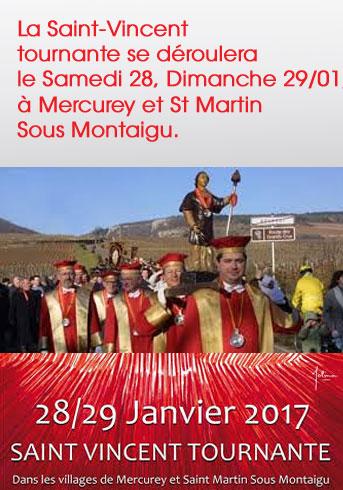 La Saint Vincent Tournante 2017 à Mercurey et Saint Martin sous Montaigu.