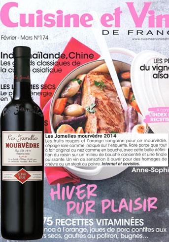 Les vins de carole cuisine et vins de france for Abonnement cuisine et vins de france