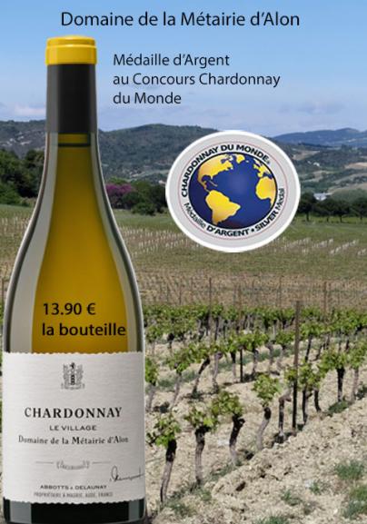 Médaille d'Argent: Concours 2018 Chardonnay du Monde