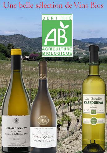 Une belle sélection de vins Bios sur le site les Vins de Carole