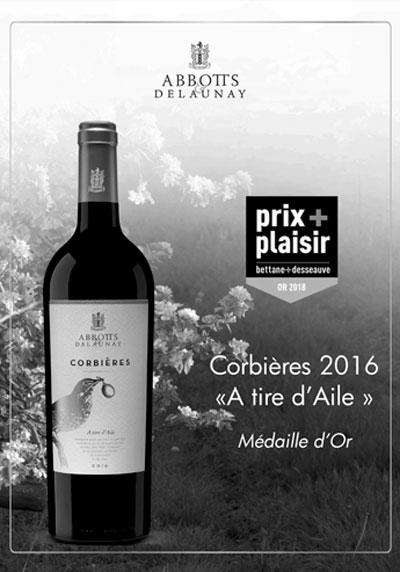 Corbières A Tire d'Aile rouge 2016 Abbotts et Delaunay