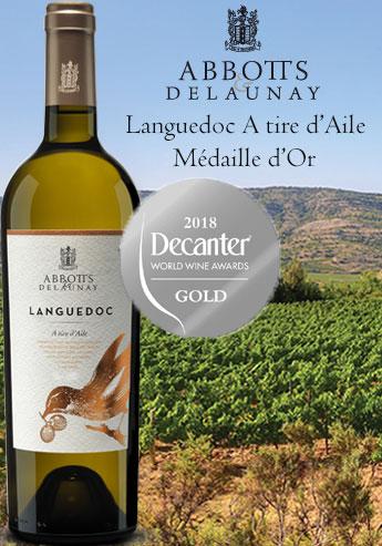 Languedoc A Tire d'Aile Abbotts et Delaunay Médaille d'Or au Concours DECANTER WWA