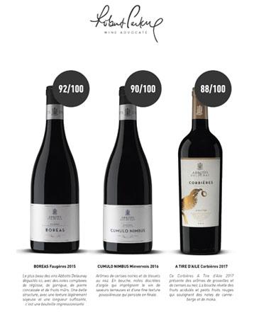 Que de belles notes pour les vins Abbotts et Delaunay !