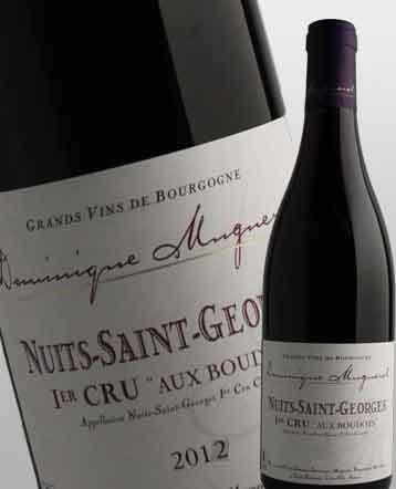 """Nuits Saint Georges 1er Cru """"Aux Boudots"""" rouge 2012 - Domaine Dominique Mugneret"""