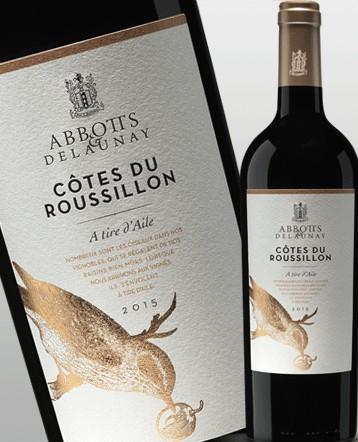 """Côtes du Roussillon """"A Tire d'Aile"""" rouge 2015 - Abbotts et Delaunay"""