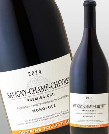 Savigny Champ Chevrey 1er Cru Monopole rouge 2014 - Domaine Tollot-Beaut