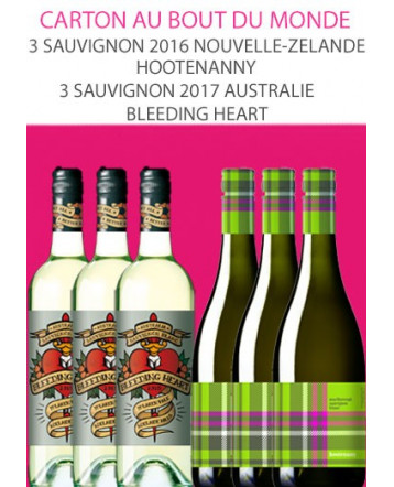 Carton Au Bout du Monde: 3 Sauvignon 2016 Hootenanny 3 Sauvignon 2017 Australie Bleeding Heart