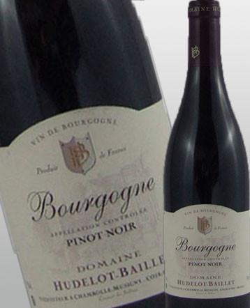 Bourgogne Pinot Noir rouge 2017 domaine Hudelot Baillet