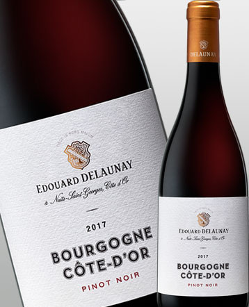 Bourgogne Côte d'Or Pinot Noir rouge 2017 Edouard Delaunay