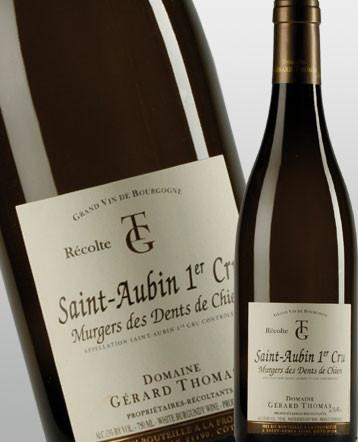 Saint Aubin 1er Cru Murgers Dents Chien blanc 2017 - domaine Gérard Thomas