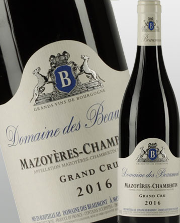 Mazoyères Chambertin Grand Cru rouge 2016 - Domaine des Beaumont