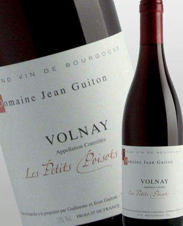 Volnay Les Petits Poisots rouge 2017 - domaine Guiton