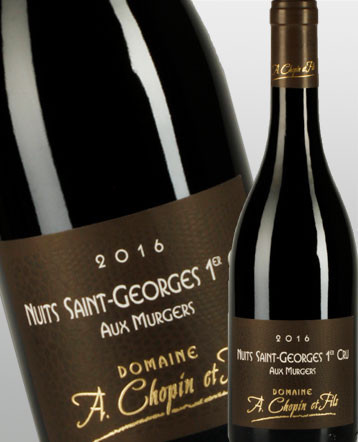 Nuits Saint Georges 1er Cru Les Murgers rouge 2016 - Domaine Chopin