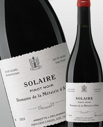 """""""Solaire"""" Pinot Noir rouge 2017 - Domaine de la Métairie d'Alon"""