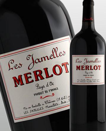 Merlot rouge Magnum 2018 - Les Jamelles