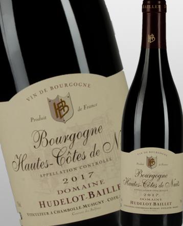 Bourgogne Hautes Côtes de Nuits rouge 2017 - Domaine Hudelot Baillet