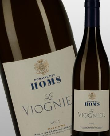 IGP Oc Viognier blanc 2017 - domaine des Homs