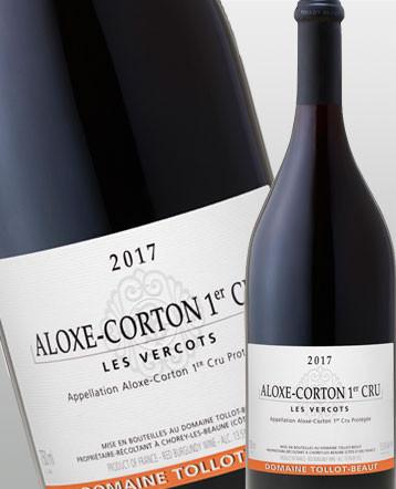 Aloxe Corton 1er Cru Les Vercots rouge 2017 - domaine Tollot Beaut