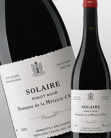 """""""Solaire"""" Pinot Noir rouge 2016 - Domaine de la Métairie d'Alon"""
