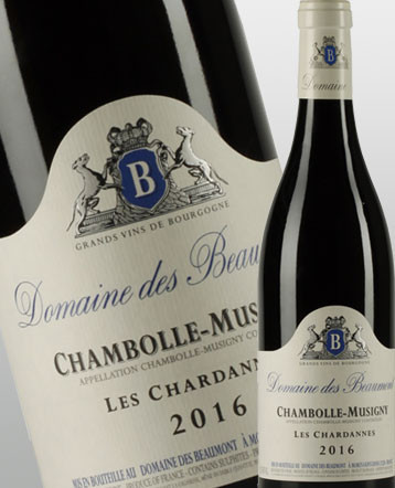 Chambolle Musigny les Chardannes rouge 2017 - Domaine des Beaumont