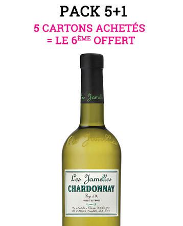 """Pack """"5+1"""" - Chardonnay 2018 - Les Jamelles"""