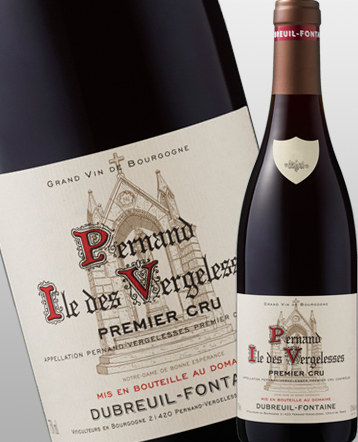 "Pernand Vergelesses 1er Cru ""Ile des Vergelesses"" rouge 2016 - Domaine Dubreuil Fontaine"