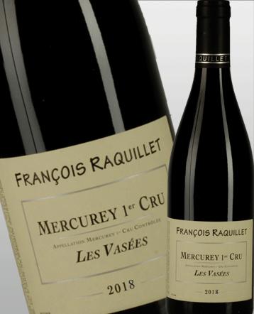 Mercurey 1er cru Les Vasées rouge 2018 - domaine François Raquillet