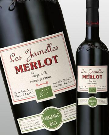 Merlot Bio rouge 2018 - Les Jamelles