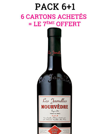 """Pack """"6+1"""" - Mourvèdre rouge 2017 - Les Jamelles"""