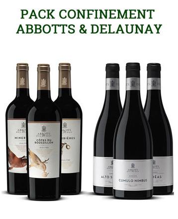 Pack - Confinement - Vins Abbotts et Delaunay