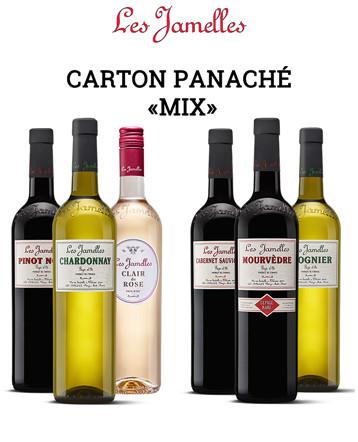 """Carton panache """"Cépages Rouge et Blanc"""" 2017/2018 - Les Jamelles"""