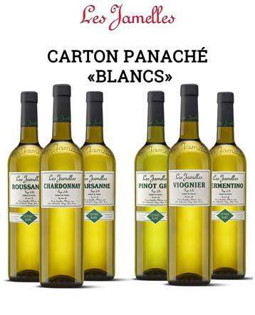 """Carton panache """"Cépages Blanc"""" 2017/2018 - Les Jamelles"""