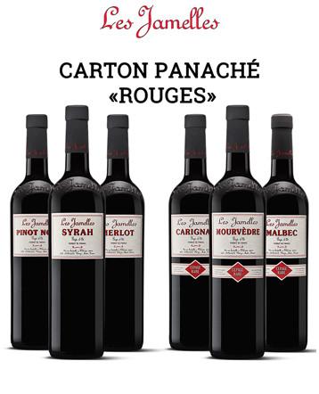 """Carton panache """"Cépages Rouge"""" - Les Jamelles"""
