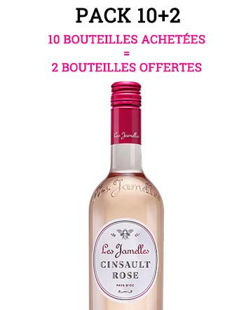 """Pack """"10+2"""" - Cinsault Rosé 2019 - Les Jamelles"""