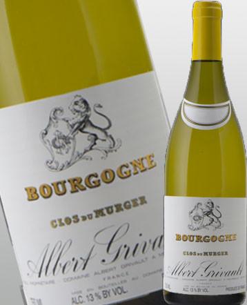 Bourgogne Chardonnay Clos du Murger blanc 2018 domaine Albert Grivault