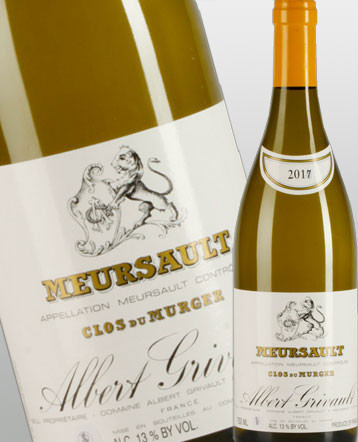 Meursault Clos du Murger blanc 2018 domaine Albert Grivault