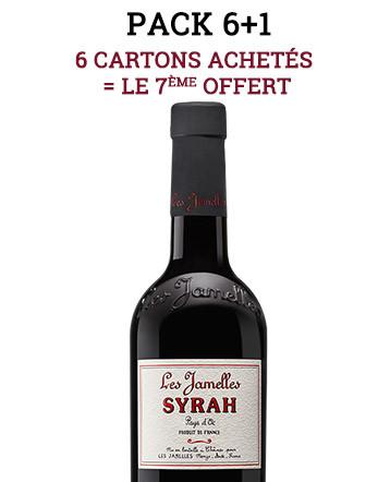 """Pack """"6+1"""" - Syrah rouge 2019 - Les Jamelles"""