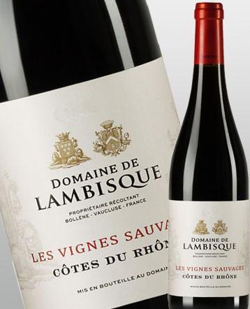"""Côtes du Rhône """"Les Vignes Sauvages"""" rouge 2019 - Domaine de Lambisque"""