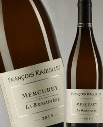 Mercurey La Brigadière blanc 2018 -Domaine François Raquillet