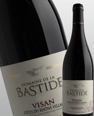 """Côtes du Rhône Villages """"Visan"""" rouge 2019 - Domaine de la Bastide"""