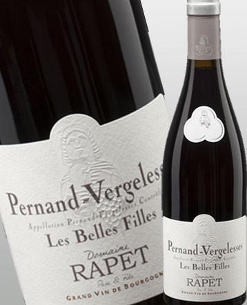 Pernand-Vergelesses Les Belles Filles rouge 2018 - domaine Rapet