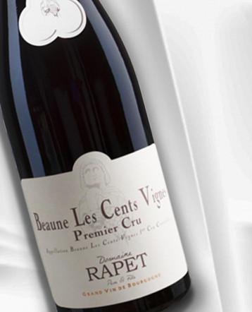 Beaune 1er Cru Les Cents Vignes rouge 2018 - domaine Rapet