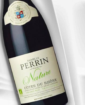 """Côtes du Rhône Réserve """"Nature"""" Rouge Bio 2018 - Famille Perrin"""