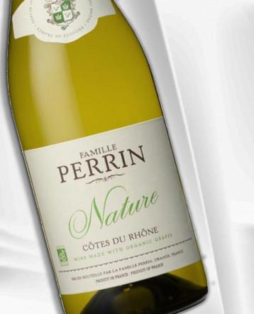 """Côtes du Rhône Réserve """"Nature"""" blanc Bio 2020 - Famille Perrin"""