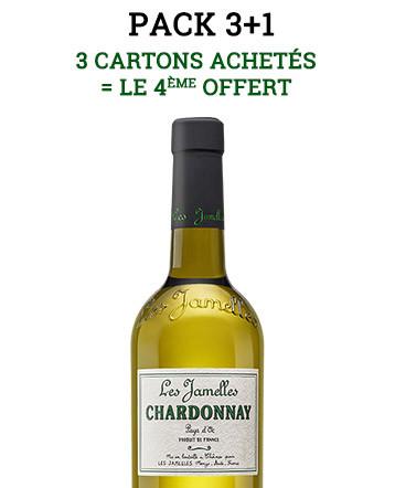 Pack 3+1 Chardonnay blanc 2017 - Les Jamelles