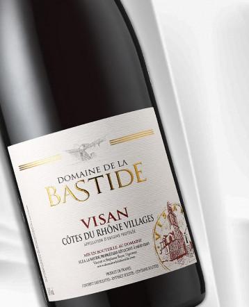 Côtes du Rhône Visan rouge 2020 - Domaine de la Bastide