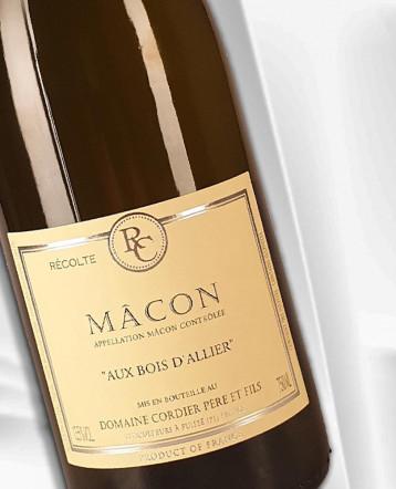 """Macon """"Aux Bois d'Allier"""" blanc 2020 - Domaine Cordier"""